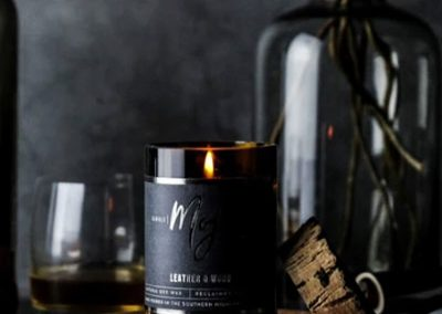 Leather & Wood Mojo Candle