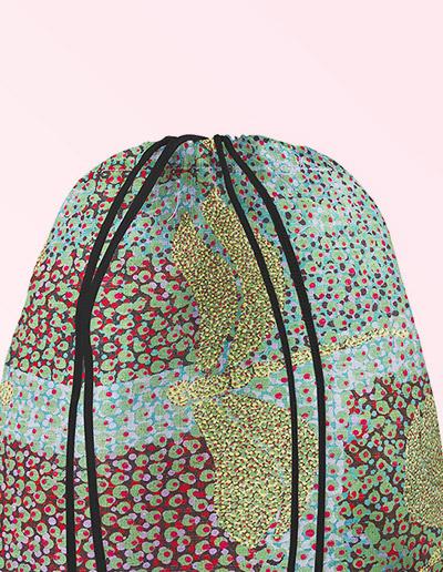 Drawstring Backpack - Sheryl Burchill green