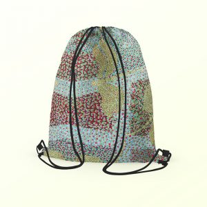 Drawstring Backpack - Sheryl Burchill green