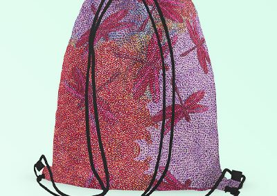 Drawstring backpack - Sheryl Burchill Pink