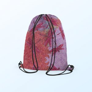 Drawstring backpack - Sheryl Burchill Pink