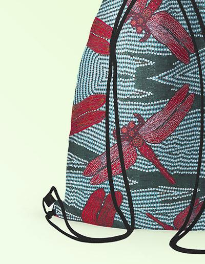 Drawstring backpack -Sheryl Burchill