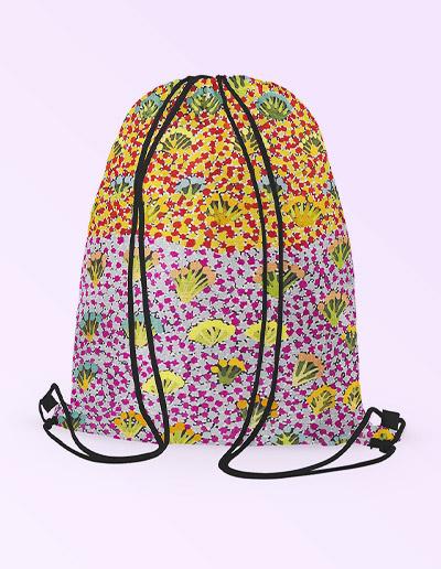 Drawstring backpack - Daisy Moss