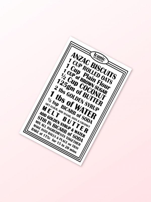 Anzac Biscuit tea towel