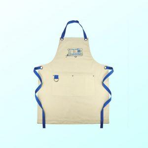 Blue caravan apron