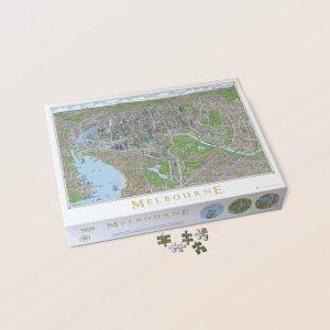 Melbourne Map Jigsaw