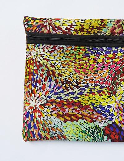 Australian Made Zipped case. Indigenous art design