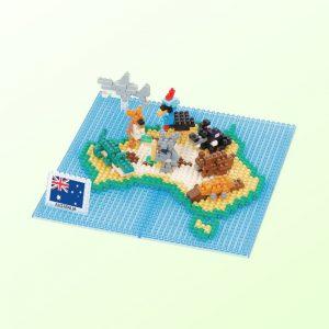 Australia Map nanoblock set