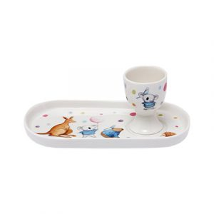 Barney Gumnut soldier set with plate and egg cup