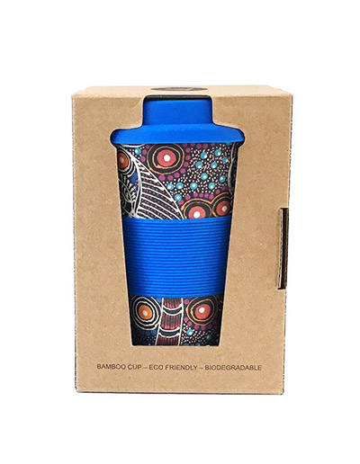 Colleen Wallace travel coffee cup in gift box