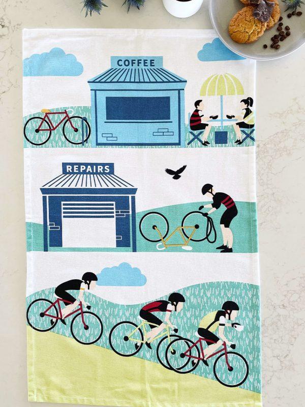 Cycling Tea Towel