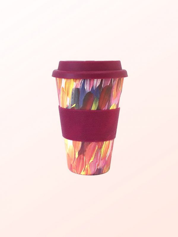 Gloria Petyarre design travel coffee cup