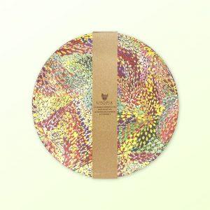 Janelle Stockman design plate set of 4