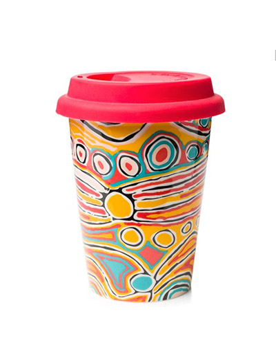Judy Watson travel coffee mug