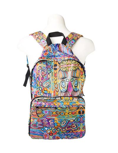 Judy Watson design fold up back Pack