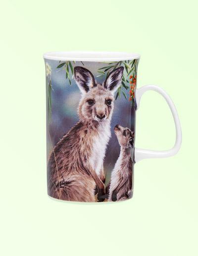 Kangaroo design mug