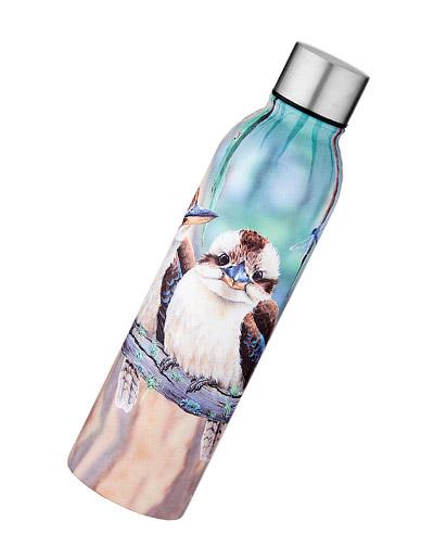 Kookaburra design stainless steel drink bottle