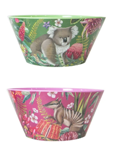 Exotic Paradiso design bowl set of 4