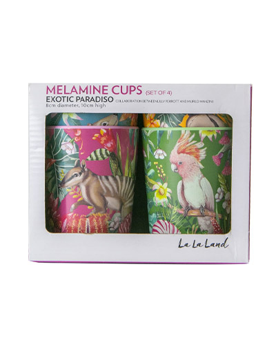 Exotic Paradiso design cup set of 4 with gift box