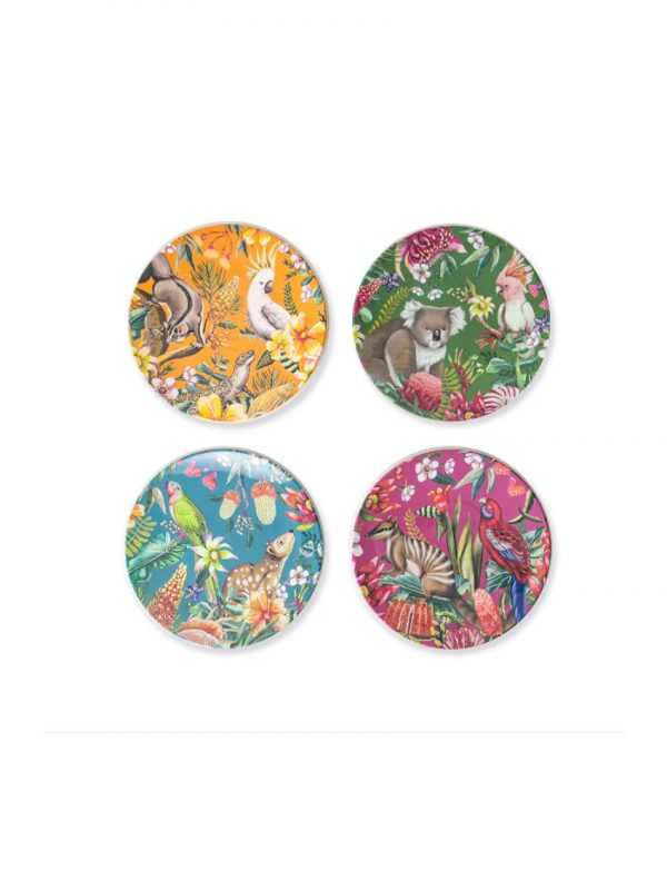 Exotic Paradiso design plate set of 4