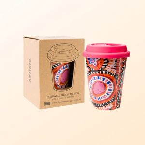 Murdie Morris design travel coffee mug and gift box