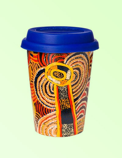 Nora Davidson design travel coffee mug
