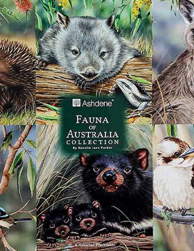 Fauna of Australia set of 6 placemats