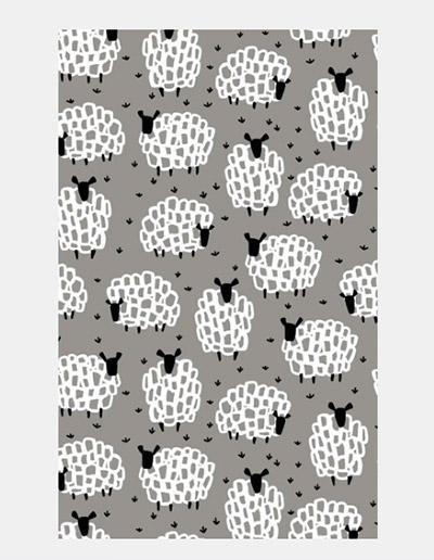 Sheep design tea towel
