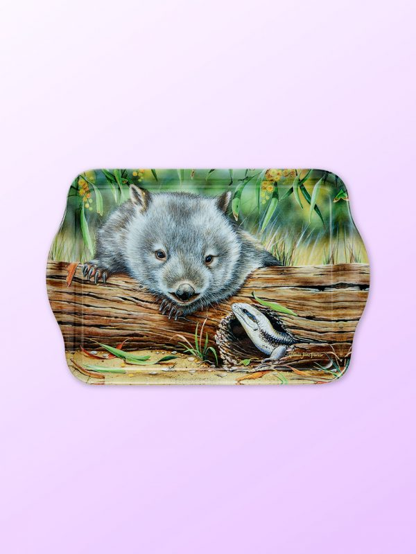 Wombat and lizard design scatter tray