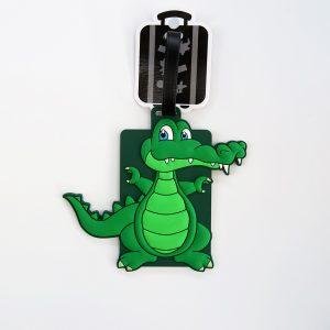 Crocodile character luggage tag