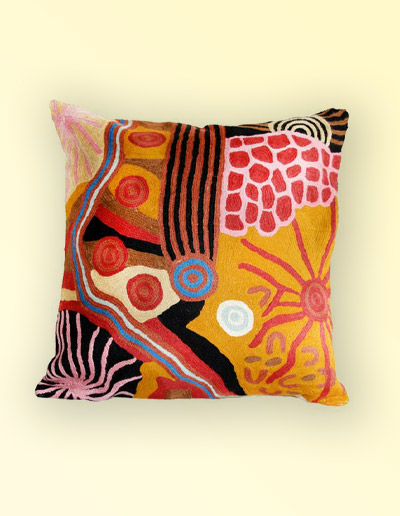 Damien and Yilpi Marks large cushion cover 50cm