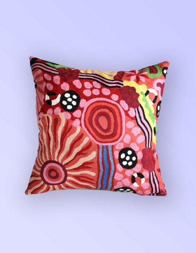 Damien and Yilpi Marks cushion cover 50cm