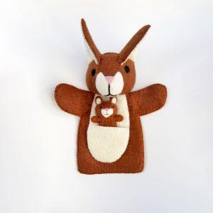 Felt Kangaroo & Joey puppet