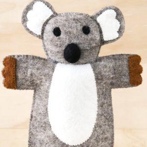 Felt koala puppet
