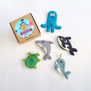Ocean finger puppets set of 5
