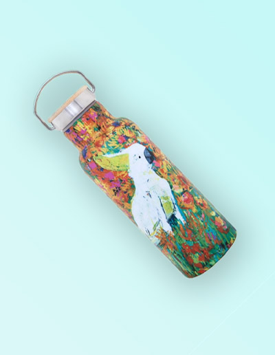 Cockatoo drink bottle hot & cold