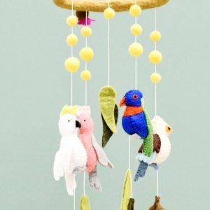 Australian bird mobile