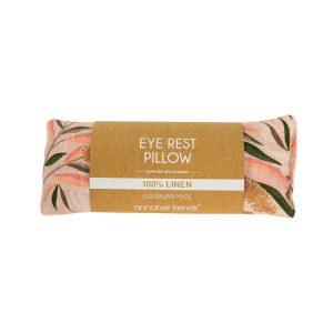 Bottlebrush eye rest pillow in paper packaging