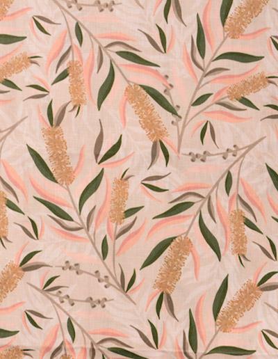 Bottlebrush fabric design