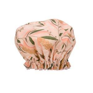 Bottlebrush design shower cap