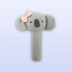 Koala Cutie pink rattle