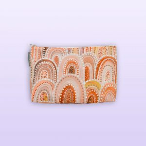 Sandhills design large cosmetic bag