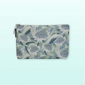 Waratah design large cosmetic bag