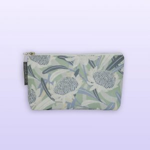 Waratah design small cosmetic bag