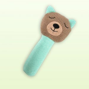 Wombat knitted rattle