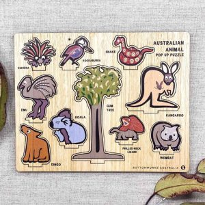 Australian animal wood puzzle