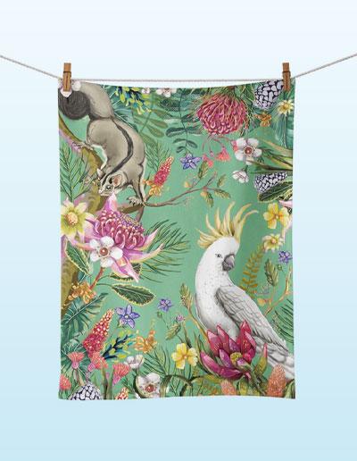 Exotic Paradiso tea towel Vol 2