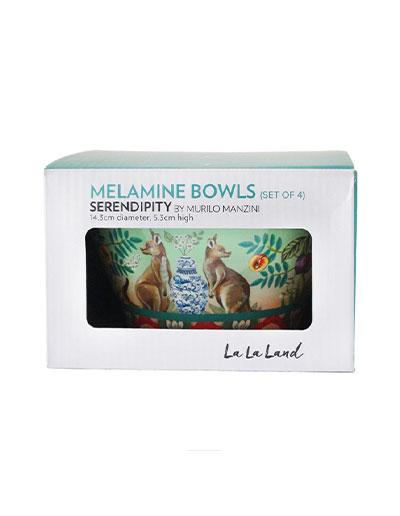 Serendipity design bowls set of 4 in gift box