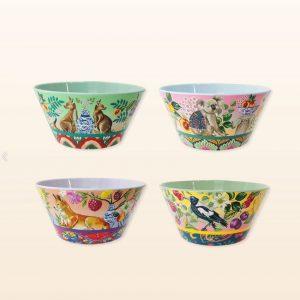 Serendipity design bowls set of 4