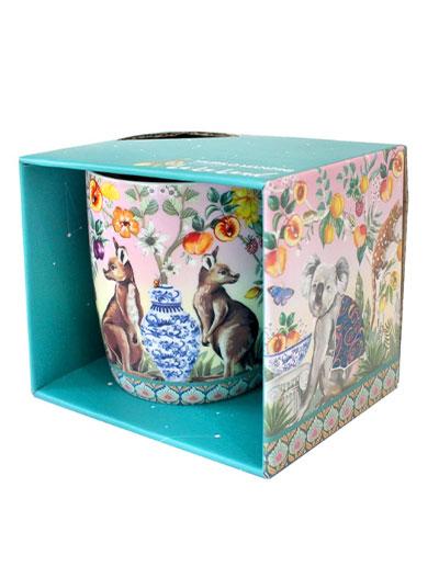 Serendipity design china mug in a gift box